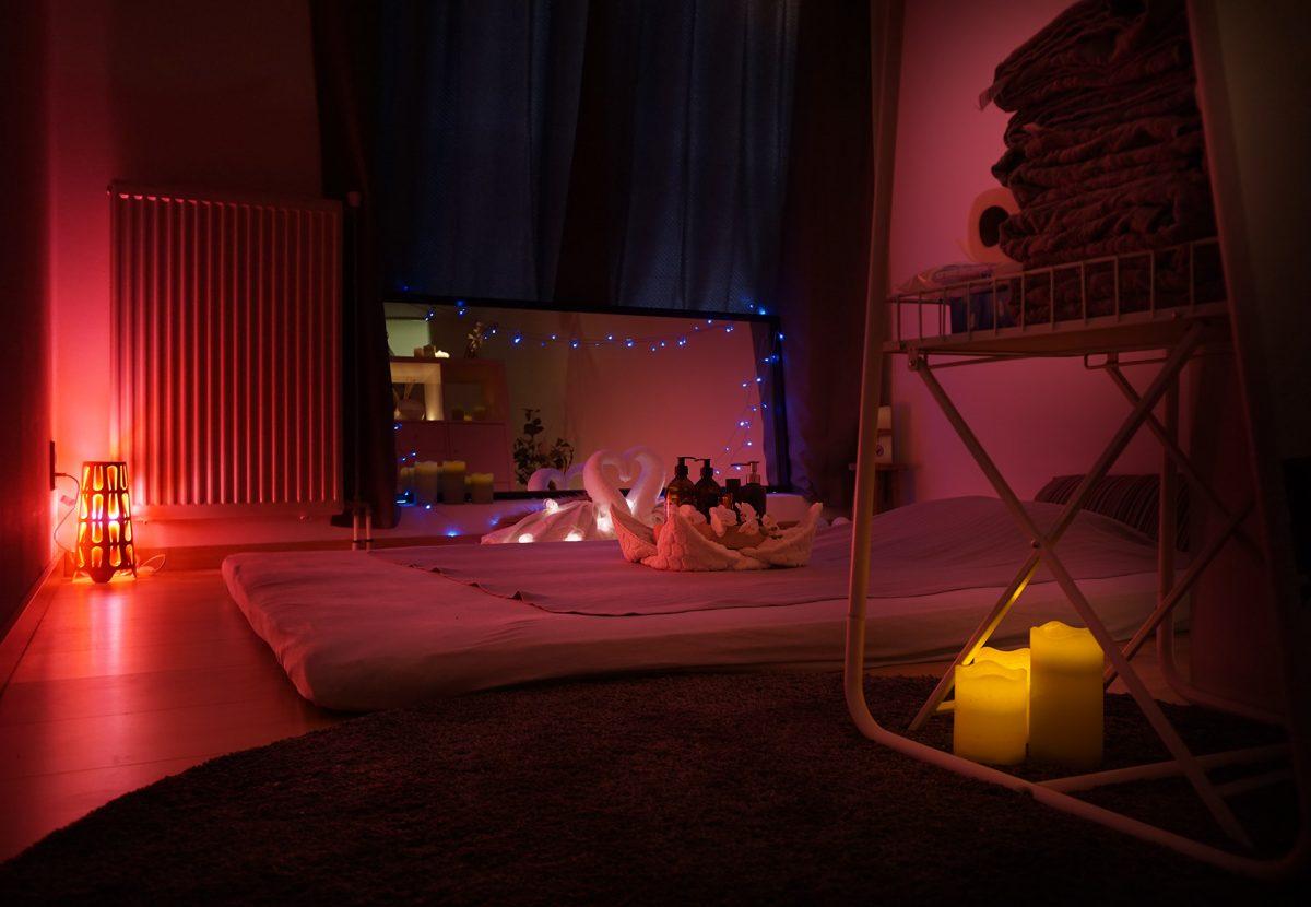 Ayda's cozy massage room